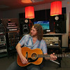 ALLEGRA BOVERMAN/Cape Ann Magazine Musician Tony Goddess of Bang a Gong Studios in his studio in Gloucester.