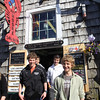 ALLEGRA BOVERMAN/Cape Ann Magazine At Roy Moore Lobster Shack in Bearskin Neck, Rockport. From left are: Emily Arntsen, Cameron Shaw and Ethan Andersen. In back, from left, are twin brothers Quinn and Luke Andersen.
