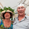 "Gloucester:  Roz and Rick Gold sport their hats at ""Pass the Hats'"" a Gala Celebration of Gloucester'Äôs Rocky Neck Cultural District on Friday, August 17, Desi Smith/Gloucester Daily Times. August 17,2012"