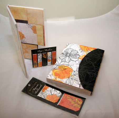 """ALLEGRA BOVERMAN/Cape Ann Brighten up your scheduling with these matching accessories: A clutch-like journal; notecards and Post-it notes; stick-on page markers; and magnetic bookmarks. The Paper Mermaid, 57 Main St., Rockport, 978-546-3553,  <a href=""""http://www.papermermaid.com"""">http://www.papermermaid.com</a>. $3.99 to $16.<br /> Rockport."""