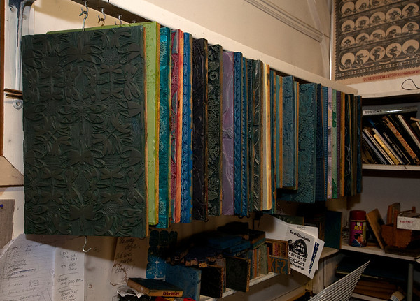 Jim Vaiknoras/Cape Ann Magazine:Large printing blocks insideThe Sarah Elizabeth Shop in Rockport