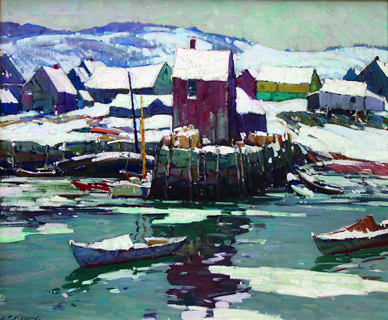 """Courtesy photo<br /> A work by Aldro T. Hibbard to be featured in the upcoming """"A. T. Hibbard, N.A.: American Master Exhibition"""" to be hosted by Rockport Art Association in October. """"Motif No. 1 in Winter,"""" 24 1/4 x 32 1/4. Oil on canvas. Collection of Dr. and Mrs. Joel E. Berenson."""