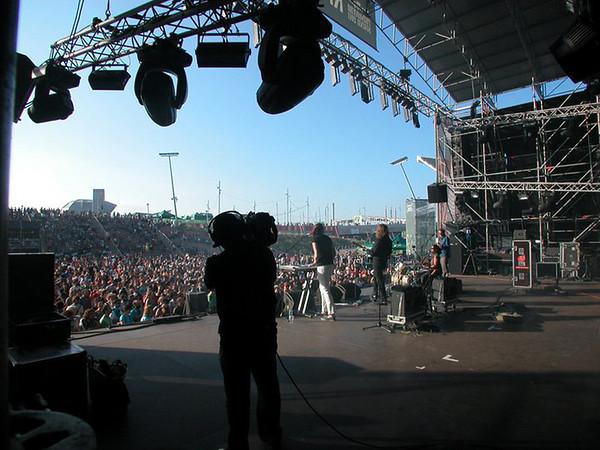 Photo courtesy of Tony Goddess. Papas Fritas perform at Primavera Sound, Barcelona, Spain, in 2011.