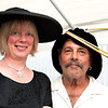 "Gloucester:  Artist John Nesta and his wife Jennifer show off their hats at  ""Pass the Hats"" - a Gala Celebration of Gloucester's Rocky Neck Cultural District on Friday, August 17, Desi Smith/Gloucester Daily Times. August 17,2012"