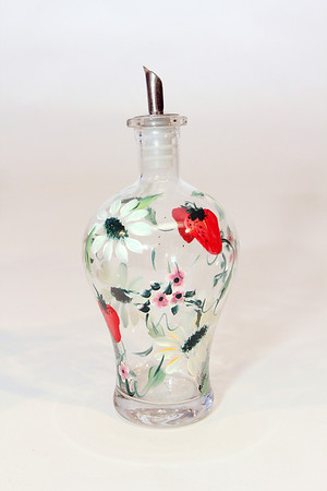 """Cruet, handpainted, ranges in price from $10-14 depending on style. Pauline's Gift Shop, 512 Essex Ave., Gloucester. 978-281-5558  <a href=""""http://www.paulinesgiftshop.comPhoto"""">http://www.paulinesgiftshop.comPhoto</a> by Allegra Boverman."""