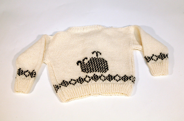 Hand-knit whale sweater, $65, My Sea Baby, 17 Mount Pleasant Street, Rockport. myseababy.com Photo by Allegra Boverman.