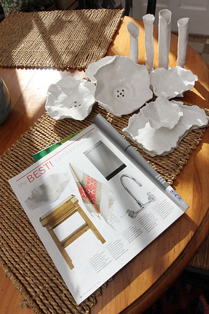 Manchester resident and artist Anna Kasabian's porcelain was recently featured in House Beautiful Magazine. Photo by Allegra Boverman.