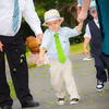 Children throw hops before bride Kate Lynch walks in to her wedding ceremony. Photo courtesy of Alissa Curcuru.