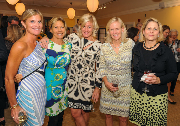 Rockport: Left to Right Rebecca Booma, Heidi Winslow, Claire Spofford, Louisa Attenborough and Amy Moore at Wellspring's October 4th Benefit Concert at the Shalin Liu.  Desi Smith/Gloucester Daily Times. October 4, 2012