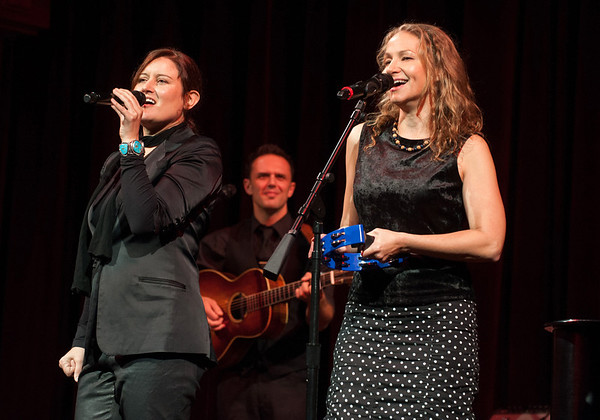 Rockport:  Grammy Award-winners Paula Cole and Joan Osborne performed at Wellspring's Benefit Concert at the Shalin Liu Proformance Center on Oct. 4. Center is Guitarist Mark Erelli.  Desi Smith/Gloucester Daily Times. October 5, 2012