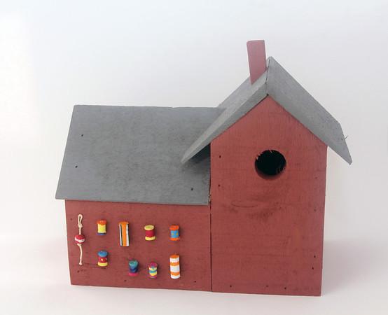 Handmade birdhouse, $60, made locally for Sea Star, 38 Bearskin Neck Road, Rockport. 978-309-8410.Photo by Allegra Boverman.