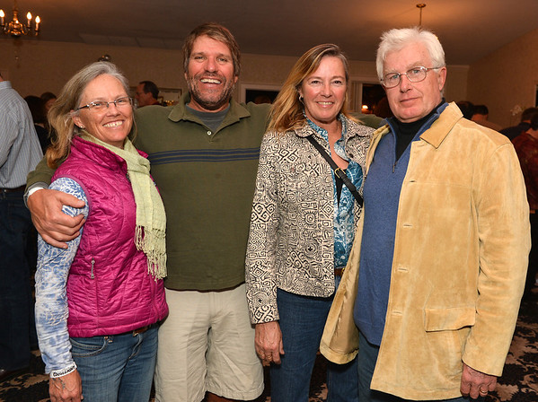 Essex:  From left to right Cricket and Dean Wilber and Joanne and Jeff Crawford at Kestrel Educational Adventures/ Cape Ann Vernal Pond Team Third Annual Benefit Concert and Silent Auction held at Woodman's Essex Room November 3,2012 Desi Smith Photo.