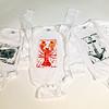 Hand-printed block print onesies. Long-sleeved $19.95, short-sleeved $18. My Sea Baby, 17 Mount Pleasant Street, Rockport. myseababy.com Photo by Allegra Boverman.