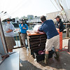 "A ""Wicked Tuna"" camera crew films a Compass Seafood employee cleaning a bluefin tuna landed by Capt. Dave Carraro, right. Photo by Desi Smith."