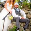 TJ Peckham and Kate Lynch on their wedding day. Photo courtesy of Alissa Curcuru.