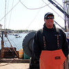 "Capt. Bill Monte of the Bounty Hunter is ready to be the subject of promotional stills and video for the second season of ""Wicked Tuna"" being shot in mid-September, at Gloucester Marine Railways in Rocky Neck. Photo by Allegra Boverman."