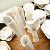 Some of Anna Kasabian's recent porcelain works at her Manchester home. Photo by Allegra Boverman.