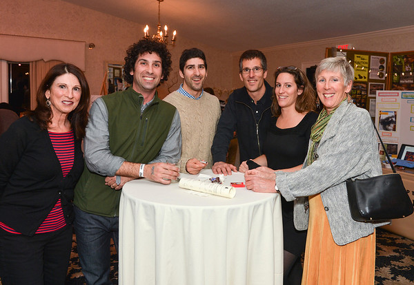 Essex:  From left to right Donna Misurca, Brian Misurca, Kyle  Misurca, Victor and Anne Taormima and Susan Taormima at Kestrel Educational Adventures/ Cape Ann Vernal Pond Team Third Annual Benefit Concert and Silent Auction held at Woodman's Essex Room November 3,2012 Desi Smith Photo.