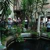 DESI SMITH/Staff photo.    John Pettibone  talks about John Hammond's pool on a tour at Hammond Castle.