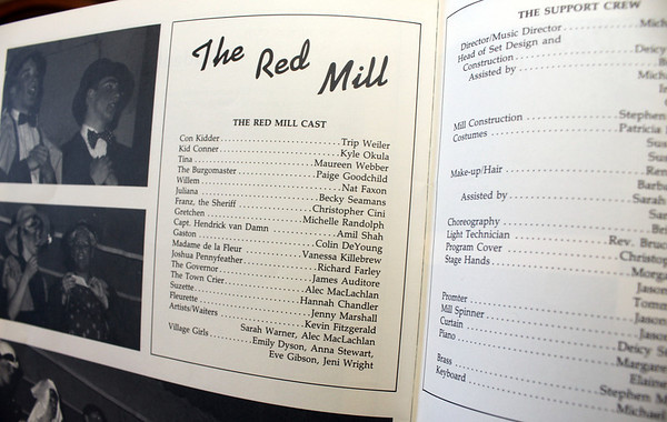 "Allegra Boverman/Cape Ann Magazine. Nat Faxon played Willem in ""The Red Mill,"" as featured in the Brookwood School yearbook from 1989."