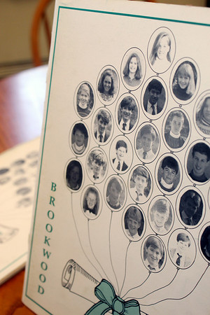 Allegra Boverman/Cape Ann Magazine. Nat Faxon is in the center of the front of the Brookwood School yearbook from 1989.