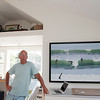 Allegra Boverman/Cape Ann Magazine. Rob Diebboll of Rockport in his studio.