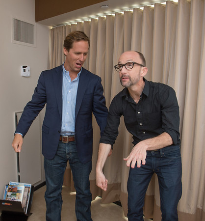 "Desi Smith/Cape Ann magazine.<br /> Manchester native Nat Faxon and friend Jim Rash may have won a serious award in their Oscar  or their adapted screenplay for ""The Descendants,"" but they still goof around plenty."