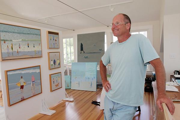 Allegra Boverman/Cape Ann Magazine. Rob Diebboll of Rockport in his studio.