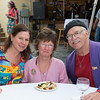 "From left to right, Marianne Spencer, Wendy Dwyer and Dan Wilcox from NY. came to celebratie the centenary of the late Gloucester poet laureate Vincent Ferrini on which would have been his 100th Birthday, held Saturday evening June 22nd in an event dubbed a ""Poet's Cabaret."" held behind the Gloucester Maritime Museum on Harbor Loop.   Desi Smith Photo"