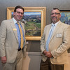 John Brennan VP/ Senior Trust Officer at the Cape Ann Savings Bank, stands with Artist Ken Knowles and President of the NSAA attended the Appraise for Art event sponsored by Cape Ann Savings Bank in collaboration with the North Shore Arts Association and held there on Friday  June 14th.    Desi Smith Photo