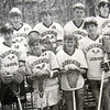 Allegra Boverman/Cape Ann Magazine. Nat Faxon played lacrosse when he attended Brookwood School. He is second from left in the front row in this photo from the yearbook from 1989.