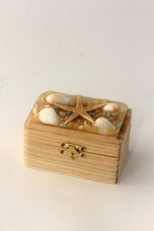 Handmade shell box, $18, by Wendy Monahan of Sea Star, 38 Bearskin Neck Road, Rockport. 978-309-8410.Photo by Allegra Boverman.