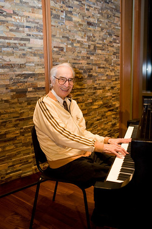 Dave Brubeck played at the Shalin Liu Performance Center November 2011.  Photo by Mary Muckenhoupt.