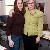 Kay O'Rourke of Wellspring with Taney McLeod.<br /> Photo by Desi Smith