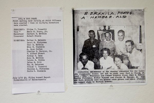 A list of the 1954-1955 members of the Lanesville Community Center which Barbara was the secretary.   Desi Smith Photo