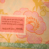 (can be Found or for story:<br /> Rockport's Amanda Thurston, founder of Pink Armor by Amanda, can personalize her hand-made items with a message. Pictured here is a custom-made baby quilt with a personal message. Quilts, $45.<br /> <br /> <br /> <br /> Photo by Jim Vaiknoras.