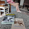 Two of Barbara Erkkila's books on her granite coffee table at her home in Gloucester. Photo by Allegra Boverman