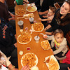 Enjoying lunch at Woodman's. Clockwise from lower left: Alex and Brian Pecci, Molly Pietal, 1, her cousin Maria Fournier of Hooksett, N.H., Chloe Pecci, 2, and Emma Pietal, 3. Photo by Allegra Boverman.