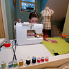 Amanda Thurston of Rockport is at work on one of her soft pillow blocks at her sewing machine.  Founder of Pink Armor by Amanda, she can create anything out of her sewing machine, material and thread.<br /> <br /> Photo by Jim Vaiknoras.