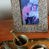 Even pictures frames are made of granite at Barbara Erkkila's home in Gloucester. Photo by Allegra Boverman.