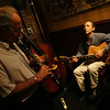 The Billy Novick Trio plays at the Franklin Cafe two Tuesdays a month. The trio is Billy Novick on clarinet, Anthony Weller on guitar, and Thomas Hebb on bass. Photos by Kate Glass