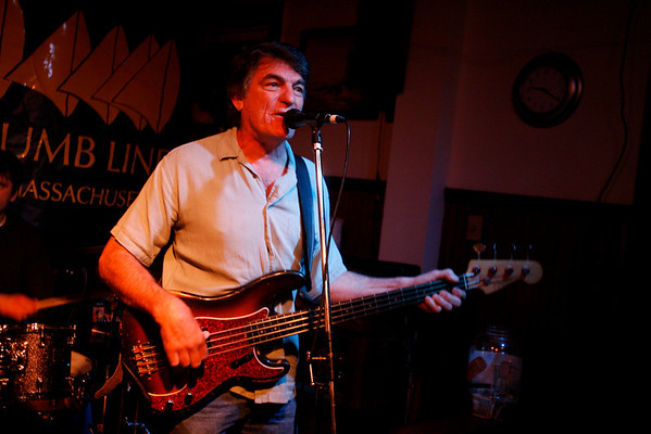 Dave Sag's Blues Party performs at the Rhumb Line every Thursday night. The band is comprised of Dave Saginario, bass, Greg Tower, guitar, and a rotating cast of guest musicians. Photo by Kate Glass<br /> <br /> Dave Saginario on bass and vocals