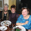 Local patrons of the arts enjoy an evening of Shakespeare at Alchemy. From left are Sally Louis, a Manchester artist, Susan Frey and Janet Williams, both of Gloucester.