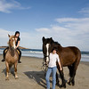 Gloucester:Serena Barbara on Frank, right, and Mariah Place, 14, on Duke at Good Harbor Beach. Staff photo/Amy Sweeney