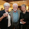 Rockport: From left, Shirley Preston, of the Rockport Garden Club, John Fleming and Jo-Ann Lavigne attend the Arts and Flowers Gala at the Rockport Art Association Friday night. Mary Muckenhoupt/Staff Photo