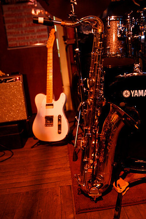Dave Sag's Blues Party performs at the Rhumb Line every Thursday night. The band is comprised of Dave Saginario, bass, Greg Tower, guitar, and a rotating cast of guest musicians. Photo by Kate Glass
