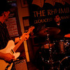Dave Sag's Blues Party performs at the Rhumb Line every Thursday night. The band is comprised of Dave Saginario, bass, Greg Tower, guitar, and a rotating cast of guest musicians. Photo by Kate Glass<br /> <br /> Greg Tower on guitar, left, and Leo Sharamitaro on drums.