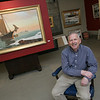 Gloucester: Gloucester artist Jeff Weaver in his studio on Rogers Street in Gloucester. Mary Mucknhoupt/Staff Photo