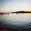 Essex: Kayakers paddle into the sunset during a Moonlight Tour with ERBA.<br /> This photo was taken with a Kodak disposable waterproof camera.  Staff photo/Amy Sweeney
