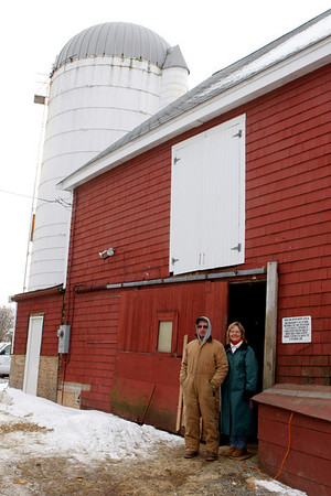 Rockport: Ken Lane , grandson of Charles Lane, Sr. , and  his wife Regina recently moved back to the farm. The couple, who lived in Florida, got a good taste of what the farm is like during the winter months. Staff photo/Amy Sweeney.